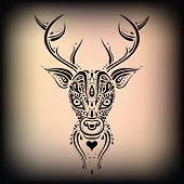 stock photo of deer head  - Deer head - JPG