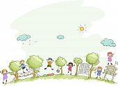 pic of stickman  - Illustration Featuring Kids Playing in a Summer Camp - JPG