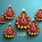 pic of kolam  - Vector Diwali Diya  - JPG