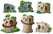 picture of cave  - illustration of different caves  - JPG