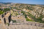 stock photo of swabian  - Swabian Castle of Rocca Imperiale - JPG