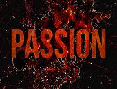 picture of taboo  - Passion and lust typographic concept design illustration in grunge style in hot red colors in black background - JPG