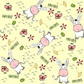 stock photo of burro  - babies hand draw seamless pattern with burros - JPG