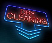pic of laundromat  - Illustration depicting an illuminated neon sign with a dry cleaning concept - JPG