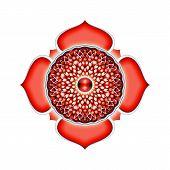 stock photo of kundalini  - Illustration of a red base chakra mandala - JPG