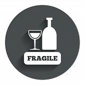 pic of fragile sign  - Fragile parcel sign icon - JPG