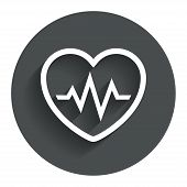 image of heartbeat  - Heartbeat sign icon - JPG