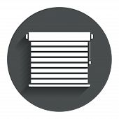 picture of jalousie  - Louvers sign icon - JPG