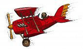 picture of biplane  - Vector hand draw doodle sketch biplane cartoon - JPG