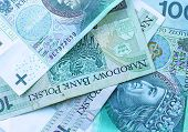 stock photo of zloty  - Background of the polish national currency zloty - JPG