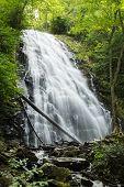 stock photo of asheville  - Crabtree Falls along the Blue Ridge Parkway near Asheville North Carolina - JPG