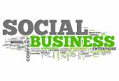 image of maxim  - Word Cloud with Social Business related tags - JPG