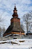 image of zakarpattia  - 100 years old traditional wooden church from Zakarpattia region Western Ukraine Carpathian mountains - JPG