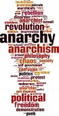stock photo of anarchists  - Anarchy Word Cloud Concept - JPG