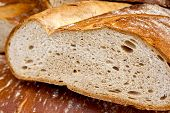 picture of crips  - Focus on bread in a French bakery
