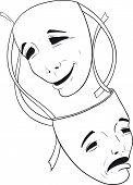 pic of comedy  - Two theatrical masks of comedy and tragedy - JPG