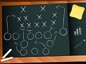 Постер, плакат: Вектор команде футбола план игры стратегии