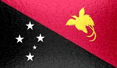 pic of papua new guinea  - Papua New Guinea flag on metallic metal texture - JPG