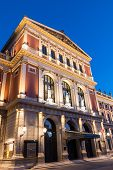 foto of wieners  - Wiener Musikverein at evening famous concert hall and landmark of Vienna - JPG
