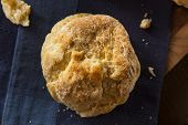 stock photo of buttermilk  - Homemade Flakey Buttermilk Biscuits Ready to Eat - JPG