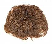 stock photo of wig  - Open wave hair wig isolated over the white background - JPG