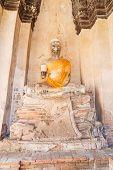 image of buddha  - Buddha statue in Ayuthaya Thailand - JPG