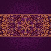 stock photo of indian wedding  - Floral Indian pattern - JPG