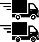 foto of lift truck  - Fast moving truck icons - JPG
