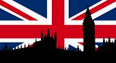 picture of british culture  - British  Design with Big Ben London Flag - JPG