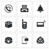 picture of telegram  - communication icon collection on a white background - JPG