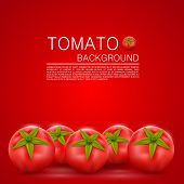 stock photo of tomato plant  - Cover with tomatoes art food - JPG