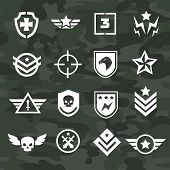 stock photo of special forces  - Military symbol icons and logos special  forces - JPG