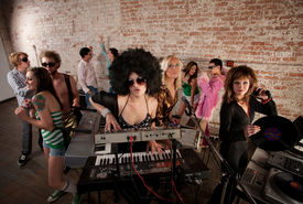 picture of lps  - Pretty Female DJs Rocking a Disco Music Party - JPG