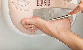 stock photo of foot  - Hygienic care of feet female - JPG