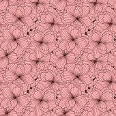 stock photo of begonias  - Seamless pattern made of pink Begonia flowers - JPG