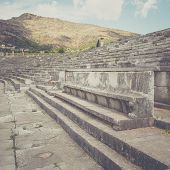 pic of messina  - vip seats on antique stadium in Ancient Messina - JPG
