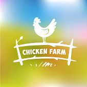 picture of poultry  - Vector logo - JPG