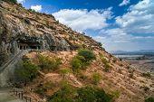 foto of ellora  - Aurangabad caves cut in a solid rock - JPG