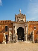 picture of arsenal  - View of the historic Arsenale in Venice - JPG