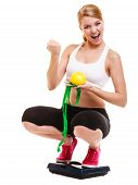 stock photo of fist  - Slimming diet weight loss - JPG