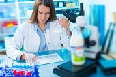 foto of microbiology  - microbiological and chemical quality control of milk - JPG