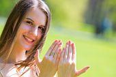 picture of fingernail  - girl shows fingernails - JPG