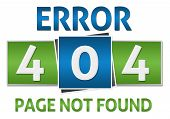 stock photo of not found  - Page not found concept image with text written over blue green background - JPG
