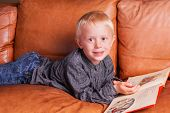 picture of storytime  - Child with Book - JPG