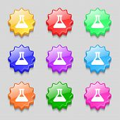 picture of conic  - Conical Flask icon sign - JPG