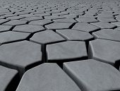 pic of paving stone  - plane covered with paving stones of different shapes - JPG