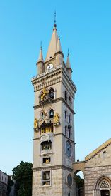 picture of messina  - Bell Tower and Clock Astronmical Duomo Messina Sicily Italy - JPG