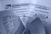foto of lien  - a crumpled up personal income tax 1040 form - JPG