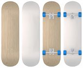 image of casper  - Blank skateboard templates in wood - JPG