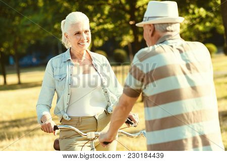 Pleasurable Time Joyful Delighted Aged